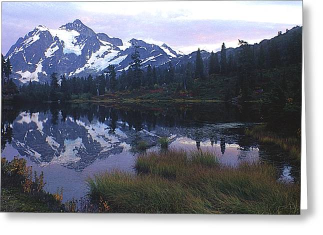 Picture Lake - Mt. Shuksan Greeting Card