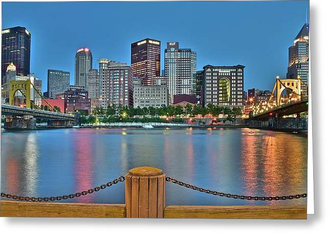 Picture Perfect Pittsburgh Greeting Card by Frozen in Time Fine Art Photography
