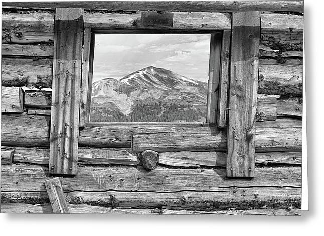 Picture Window 2 Bw Greeting Card by Eric Glaser