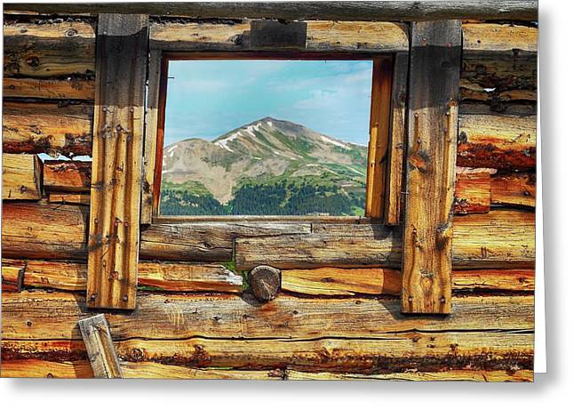Picture Window 2 Color Greeting Card by Eric Glaser