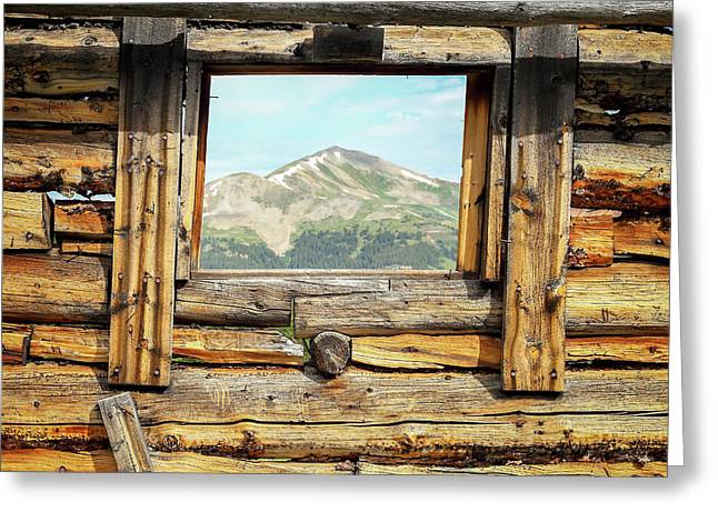 Picture Window #1 Greeting Card by Eric Glaser