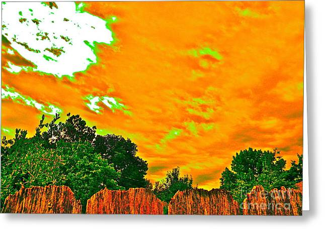 Picture Yourself Tangerine Sky Greeting Card