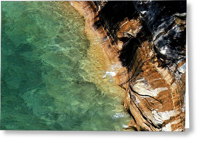 Greeting Card featuring the photograph Pictured Rocks by Kenneth Campbell