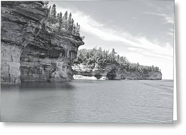 Pictured Rocks Shoreline National Park Greeting Card by Michael Peychich