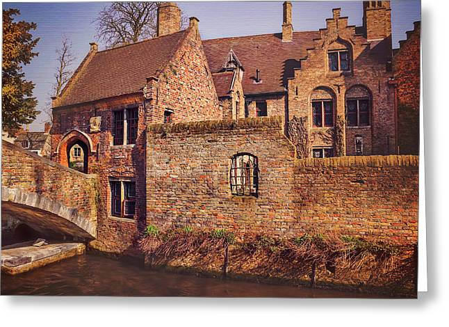 Picturesque Bruges  Greeting Card by Carol Japp