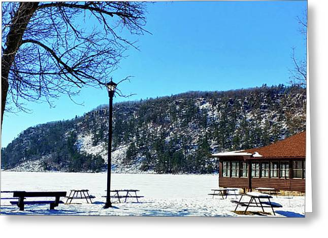 Picturesque Devil's Lake Greeting Card by Ricky L Jones