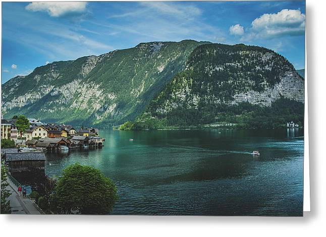 Picturesque Hallstatt Village Greeting Card