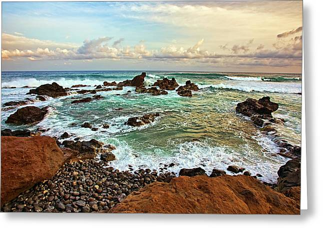 Picturesque Ho'okipa Greeting Card by Marcia Colelli