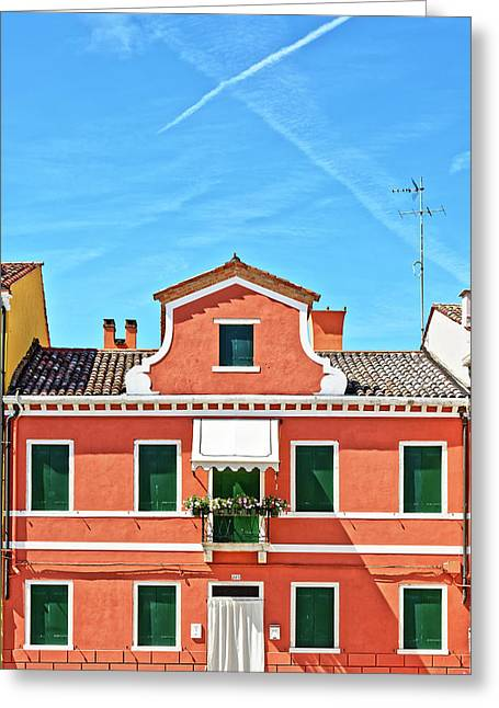Picturesque House In Burano Greeting Card