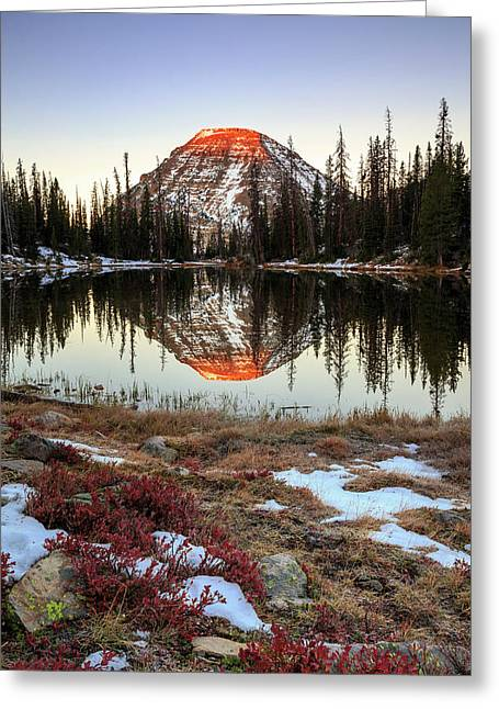 Picturesque Lake Greeting Card