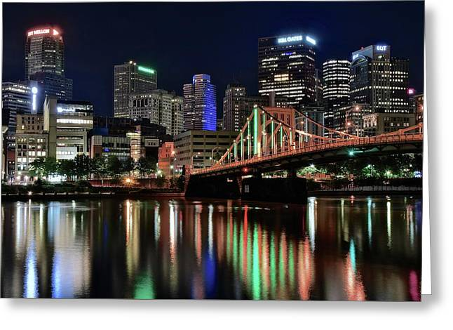 Picturesque Pittsburgh Greeting Card by Frozen in Time Fine Art Photography