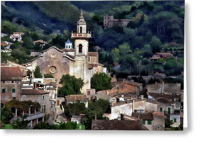 Picturesque Village Of Valldemossa Greeting Card by Anthony Dezenzio