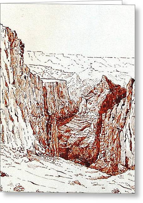 Picturing A Canyon Greeting Card by Smart Healthy Life