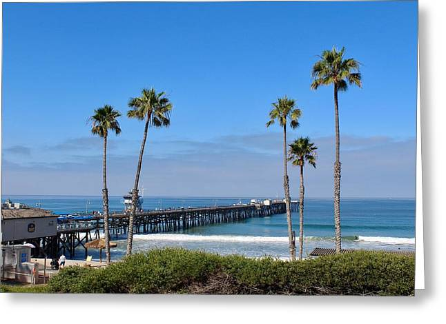 Pier And Palms Greeting Card