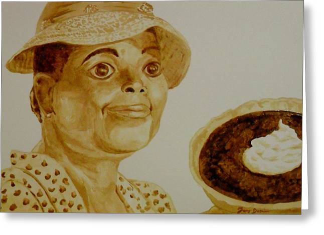 Pie Greeting Card by Terry DeMars