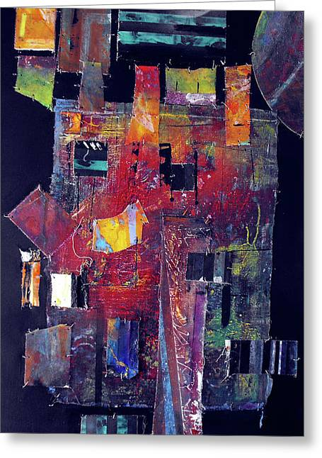 Pieces II Greeting Card by Ralph Levesque