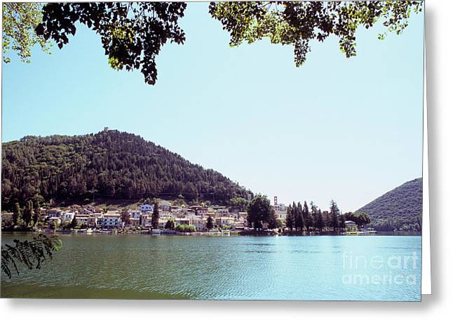 Piediluco And Piediluco Lake Greeting Card