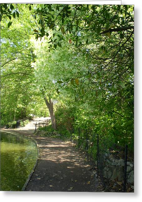Piedmont Park Path Greeting Card by Utopia Concepts