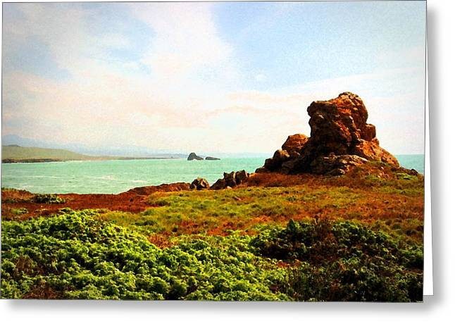 Greeting Card featuring the photograph Piedras Blancas 3 by Timothy Bulone