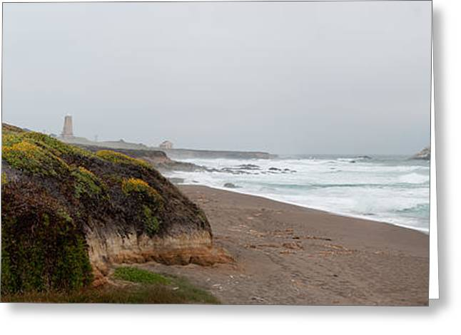 Piedras Blancas Lighthouse Greeting Card by Andreas Freund