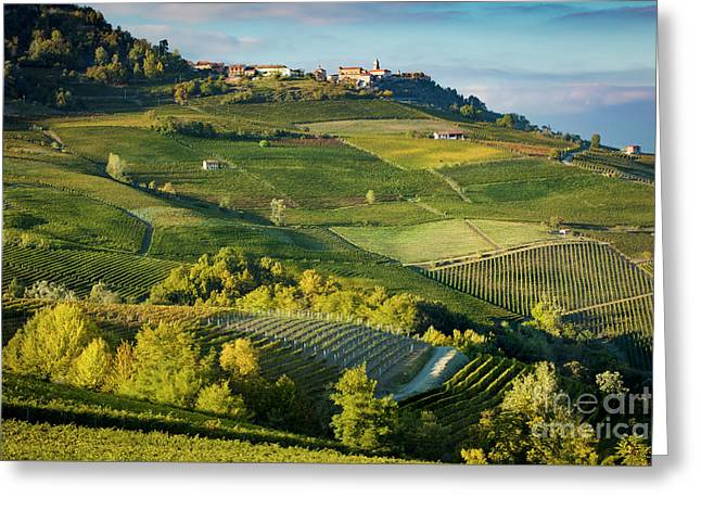 Greeting Card featuring the photograph Piemonte Countryside by Brian Jannsen