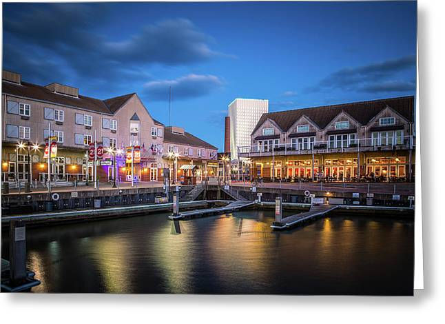 Pier 21 Blue Hour Greeting Card by Tom Weisbrook