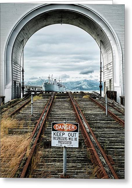 Pier 43 Ferry Arch San Francisco California Greeting Card by Mary Lee Dereske