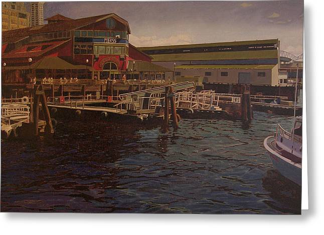 Pier 55 - Red Robin Greeting Card