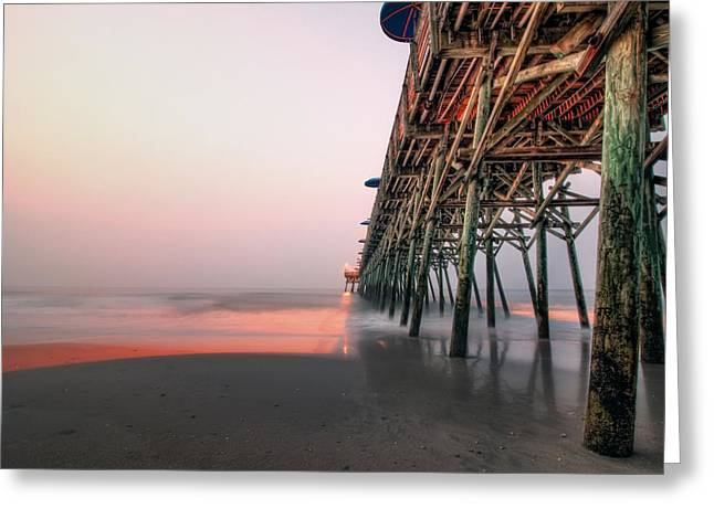 Pier And Surf Greeting Card