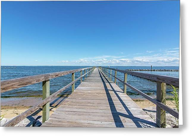Pier At Highland Beach Greeting Card