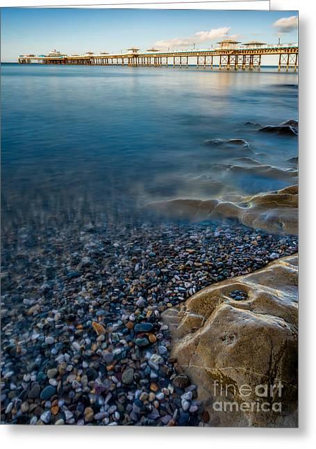 Pier At Llandudno Greeting Card by Adrian Evans