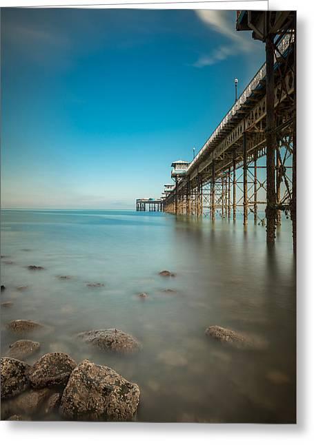 Pier At Llandudno, North Wales Greeting Card by Andy Astbury