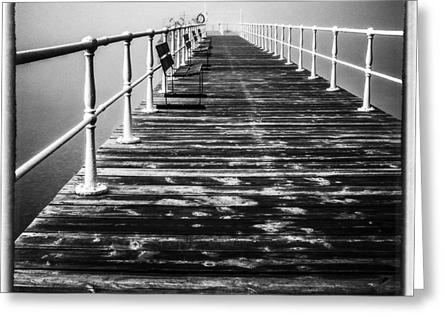 Pier At Pooley Bridge On Ullswater In The Lake District Greeting Card