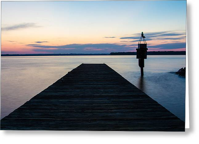 Pier At Sunset 16x20 Greeting Card