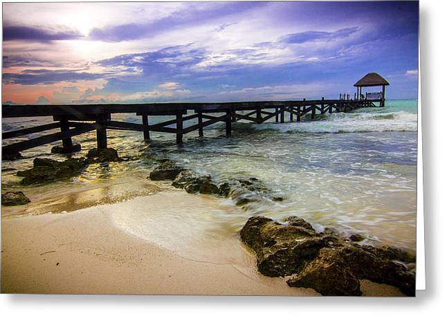 Rivera Greeting Cards - Pier Greeting Card by Chris Multop