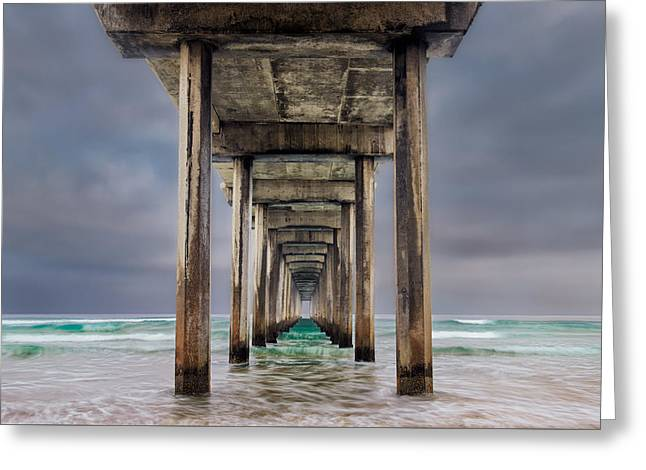 Pier Greeting Card by Doug Oglesby