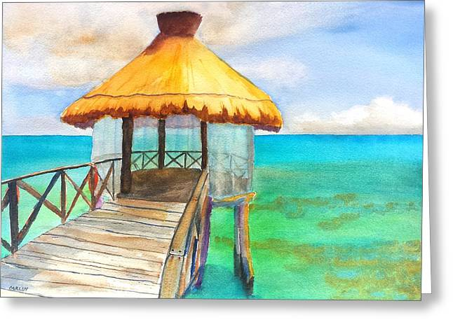 Pier Gazebo At Mayan Palace Greeting Card