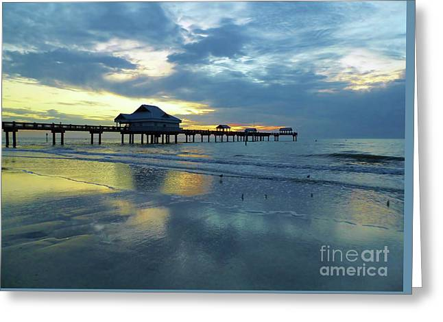 Pier In Pastel Greeting Card by D Hackett