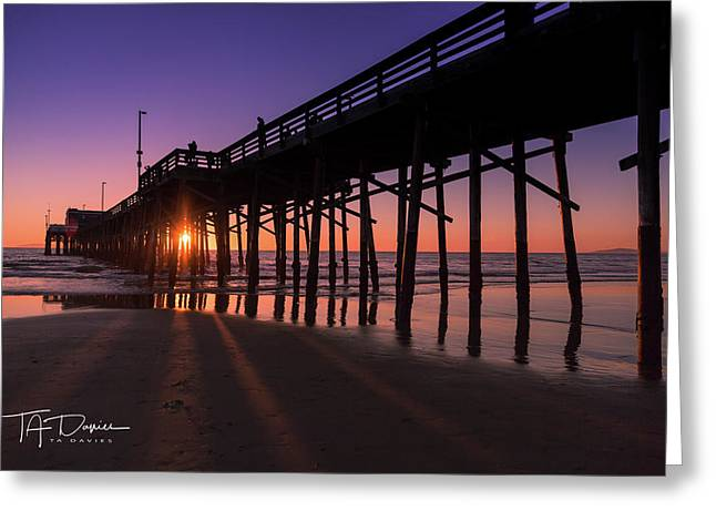 Pier In Purple Greeting Card