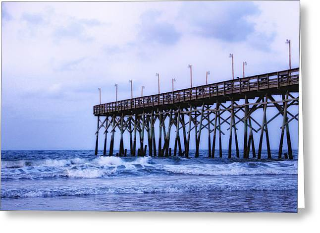 Pier Into The Sea Greeting Card