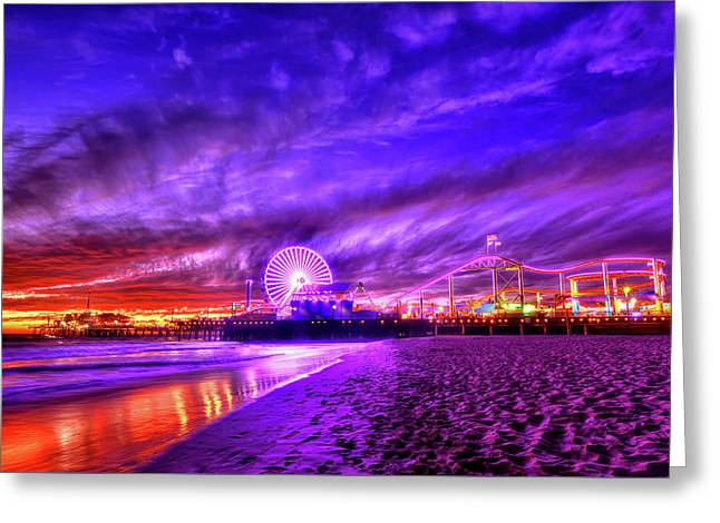 Pier Of Lights Greeting Card