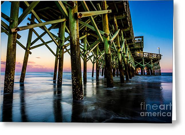 Pier Perspective Greeting Card
