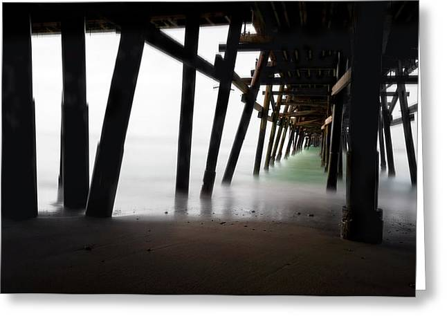 Pier Pressure Greeting Card by Sean Foster