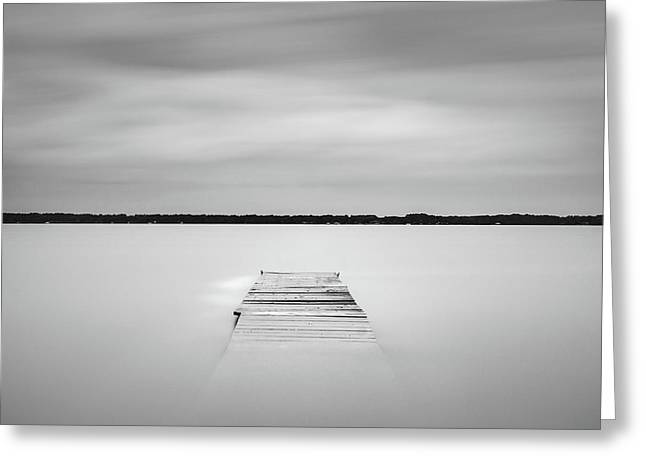 Greeting Card featuring the photograph Pier Sinking Into The Water by Todd Aaron