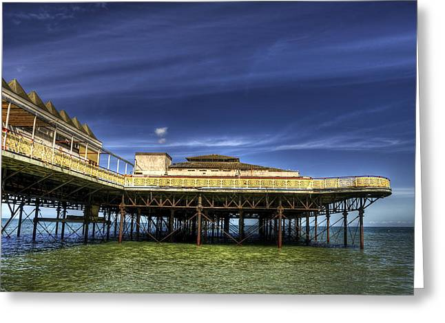 Pier Structure Greeting Card by Svetlana Sewell