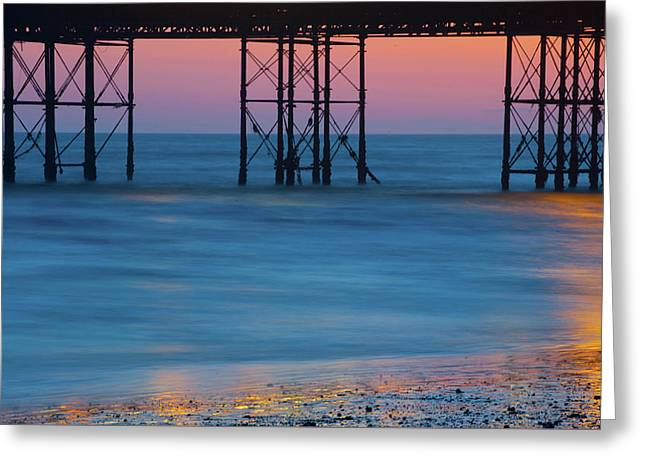 Pier Supports At Sunset I Greeting Card