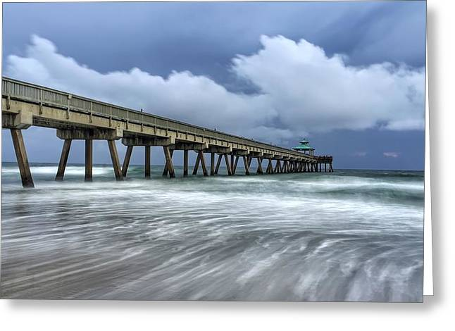 Pier Time Lapse Greeting Card