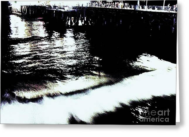 Greeting Card featuring the photograph Pier by Vanessa Palomino