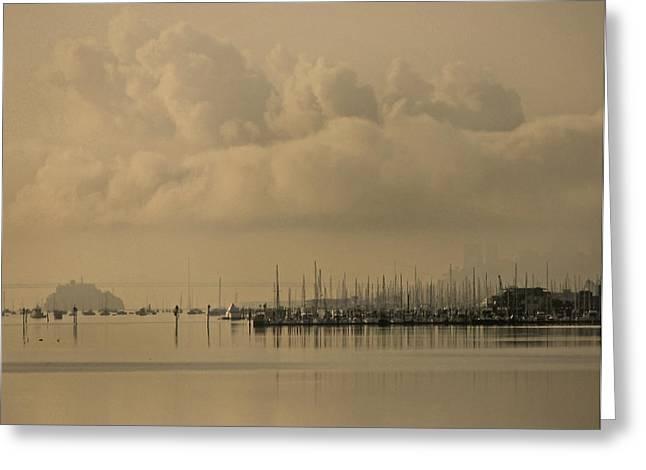 Pier Greeting Card by Vari Buendia