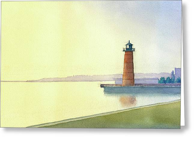 Pierhead Lighthouse, Milwaukee Greeting Card